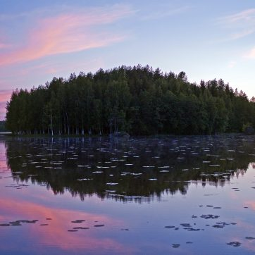 Finnland, Abend am See