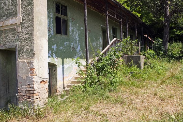 Im ehemals sächsischen Dorf finden sich noch einige verlassene Hofstellen (die meisten dürften inzwischen verkauft sein).