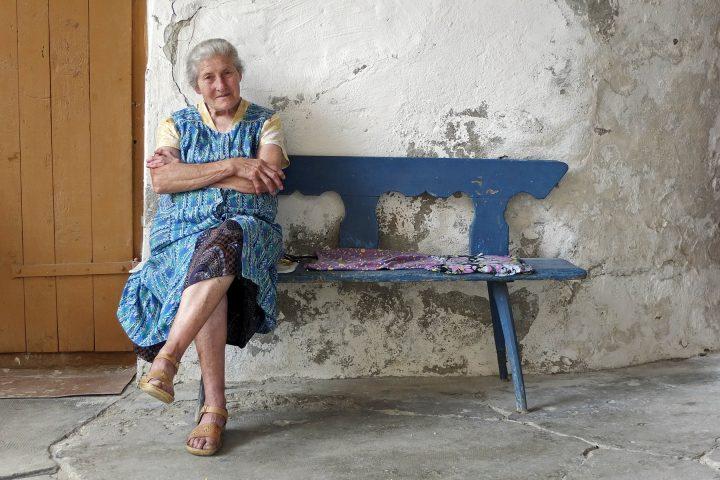 Frau Schneider ist die Burghüterin in Wurmloch. (Leider ist auch Frau Schneider inzwischen verstorben)