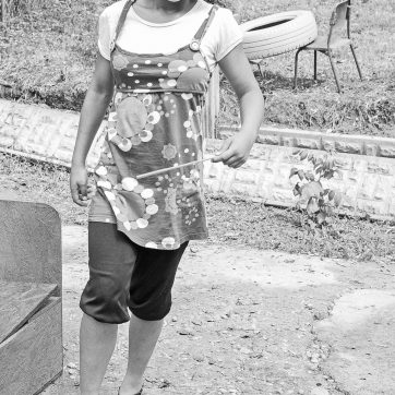 Cristina im Garten