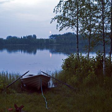 Boot in der Nacht