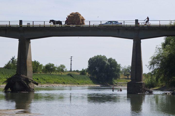 Brücke über die Temesch in Parta, unsere erste Zwischenstation.
