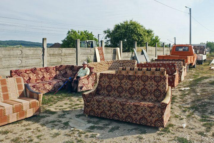 Markt in Mediasch (Couchsurfing rumänisch)