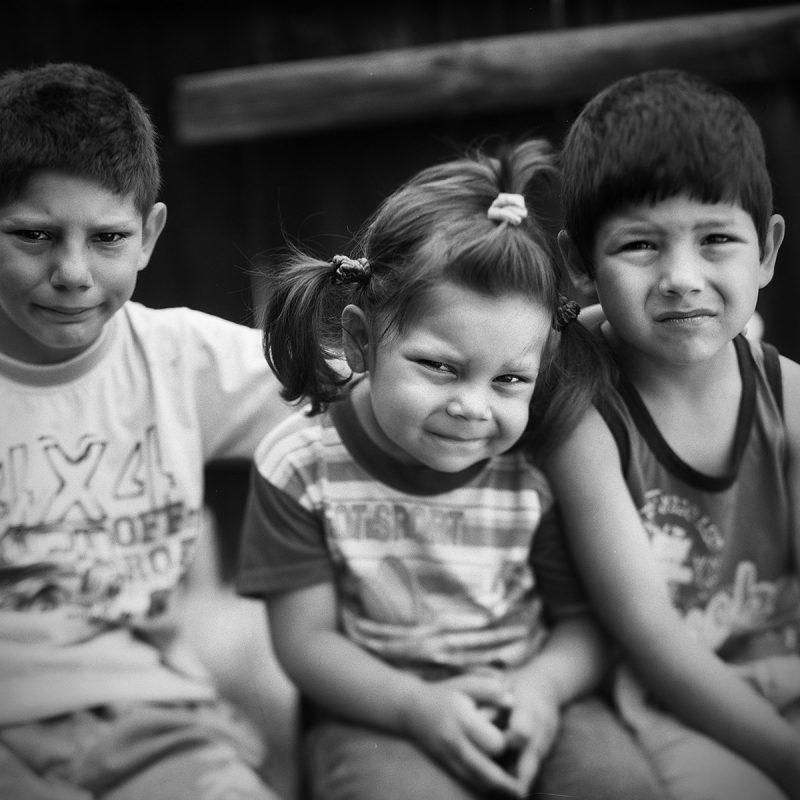 Alexandru, Andrea und Loredan, Geschwister