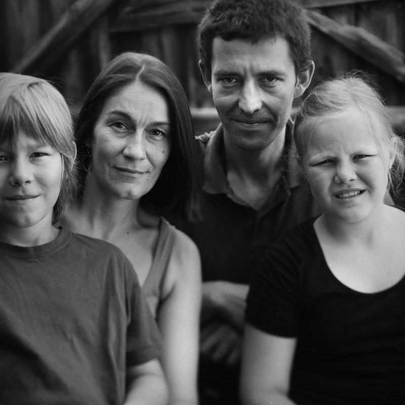 Franz, Juliane, Kristof und Hermine, Familie