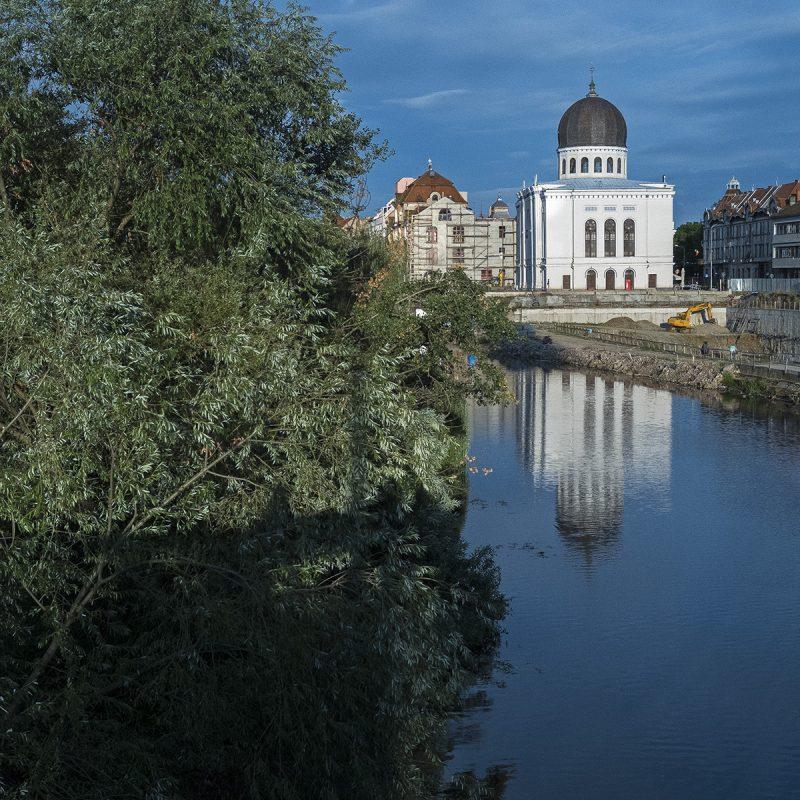 Oradea, Synagoge, Crișul Repede (deutsch Schnelle Kreisch)