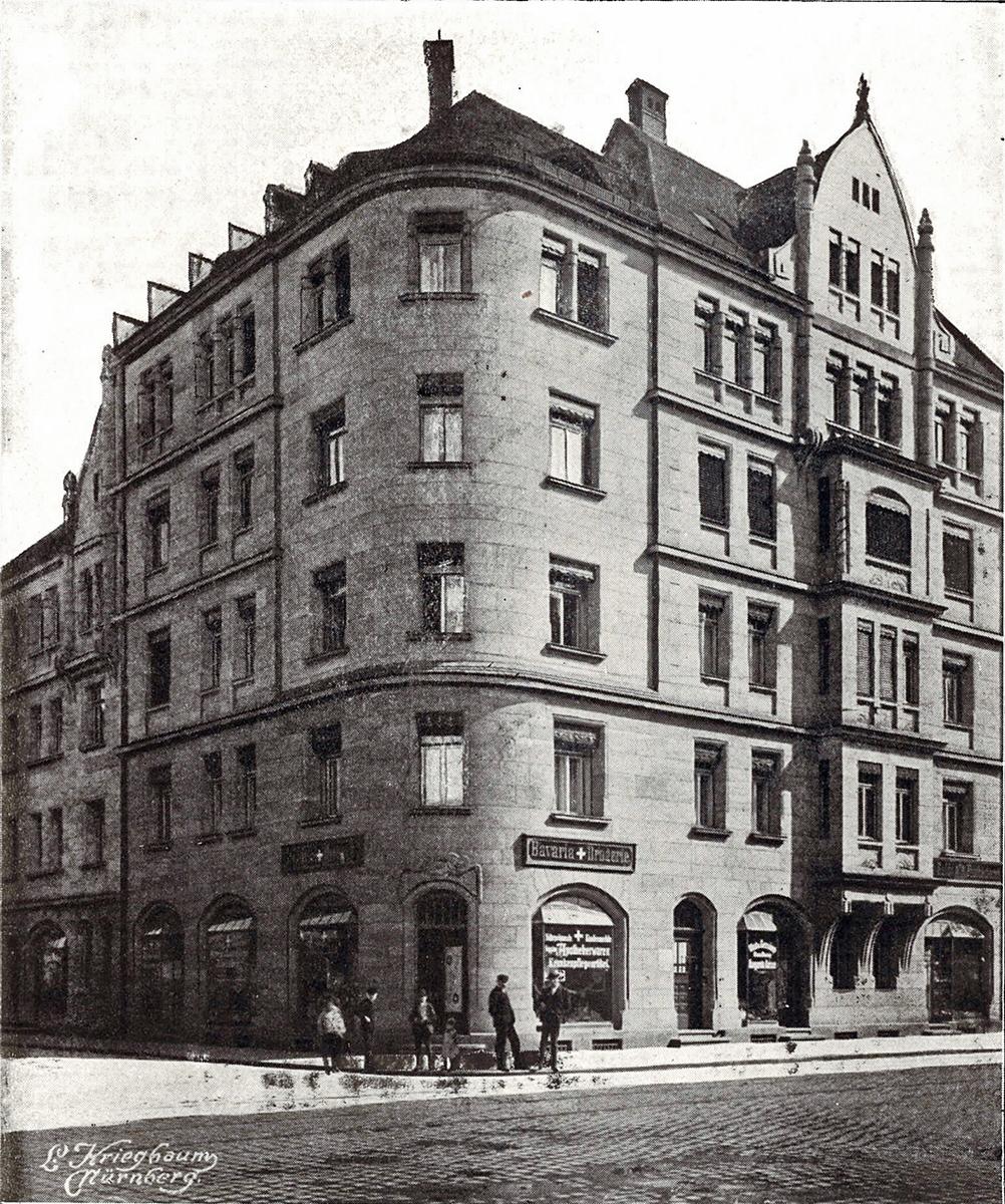 Schwabacher Straße 65, Aufnahme von Kriegbaum, 1907, Archiv FürthWiki e. V.