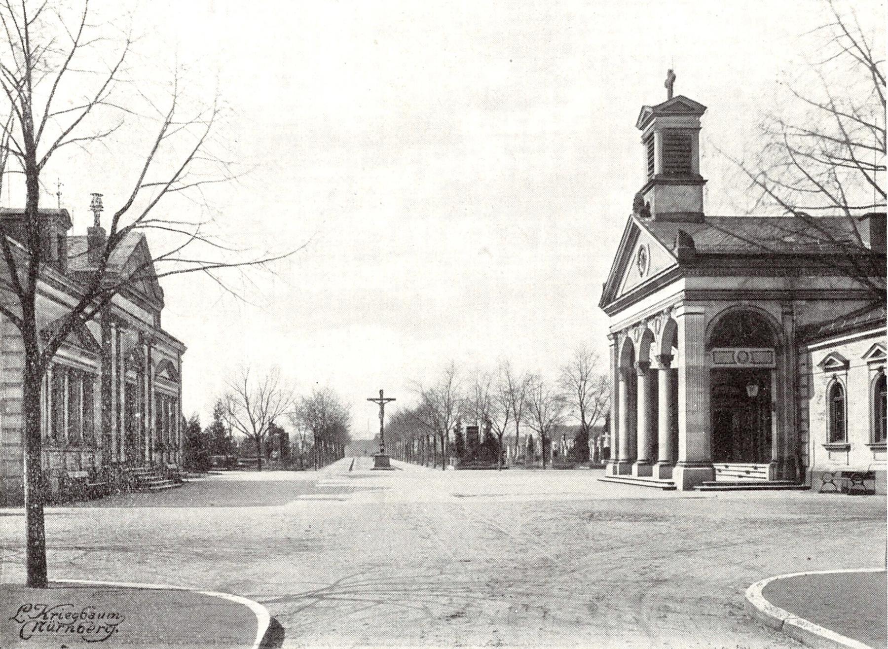 Städtischer Friedhof, Leichen- und Wartehalle, 1907