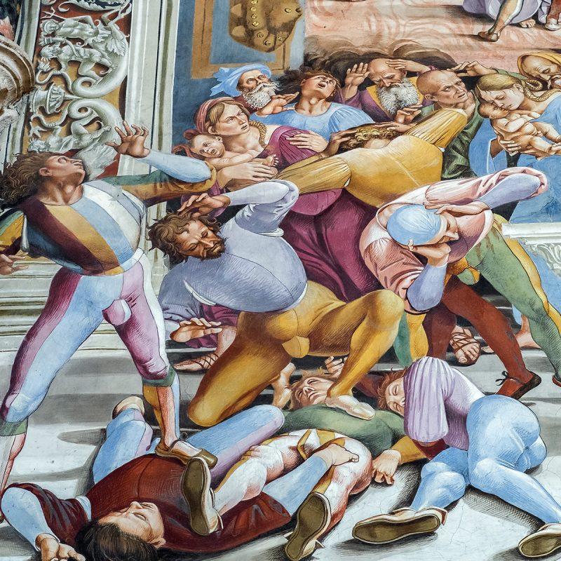 Dom von Orvieto - Fresken von Luca Signorelli in der Kapelle San Brizio (fast wie Comiczeichnungen)