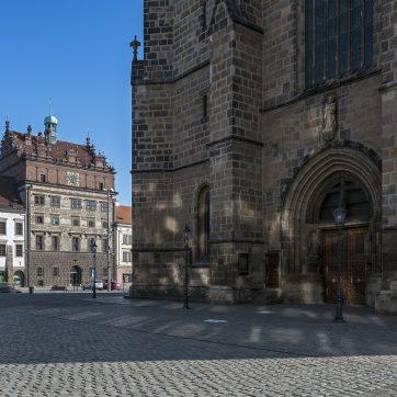 Pilsener Hauptplatz náměstí Republiky