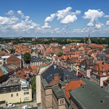 Blick vom Rathausturm Richtung Nordwesten