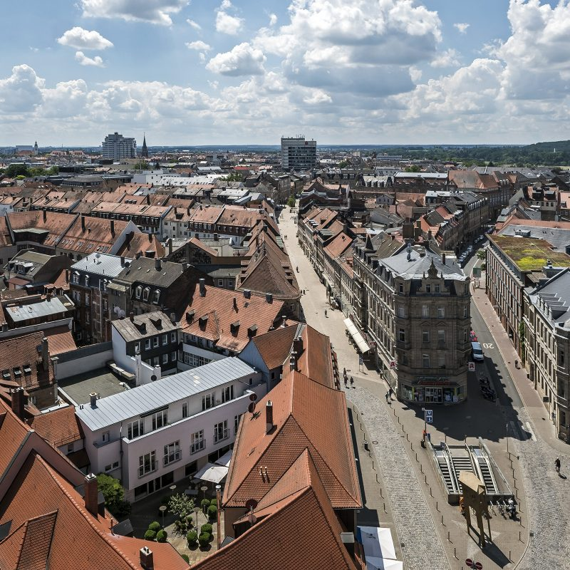 Blick vom Rathausturm Richtung Südosten