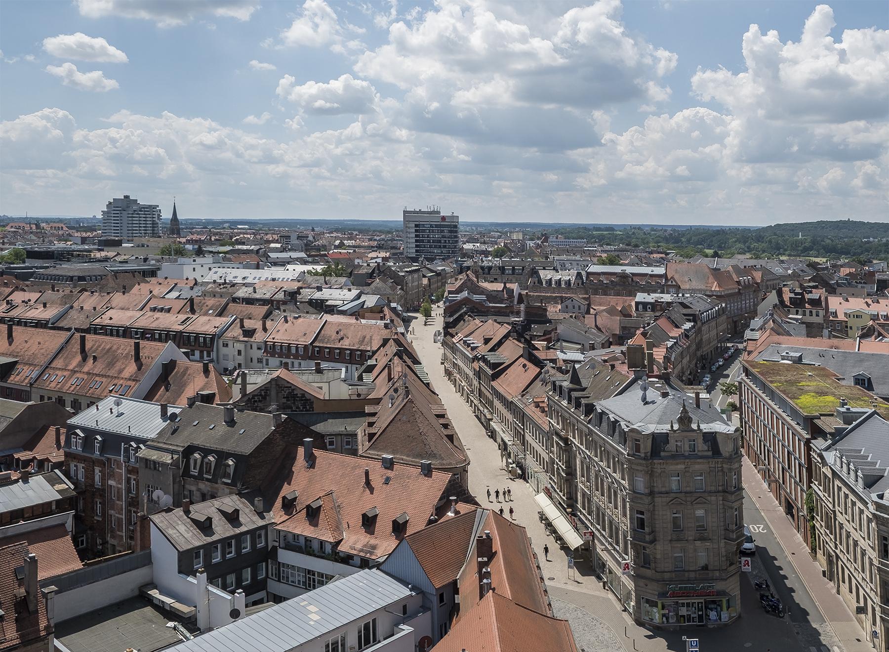 Blick vom Rathausturm Richtung Südosten 2018