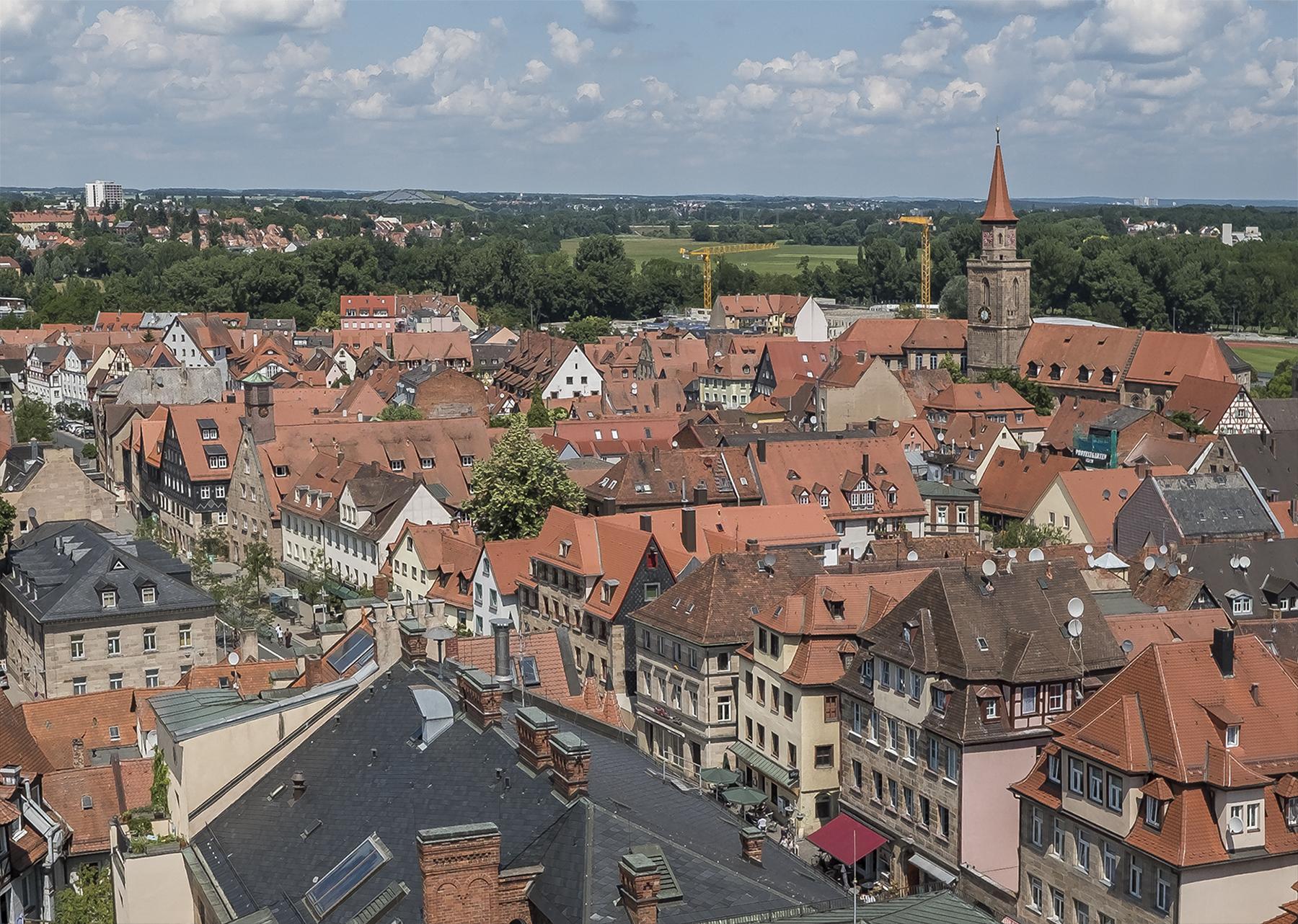 Blick vom Rathausturm Richtung Nordwesten 2018