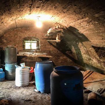 betoniertes (?) Gewölbe im ersten Keller