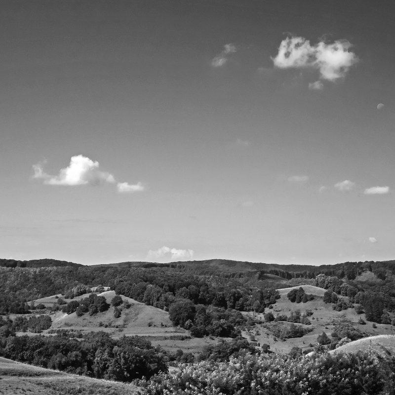 Landschaft auf halbem Weg nach Moșna / Meschen