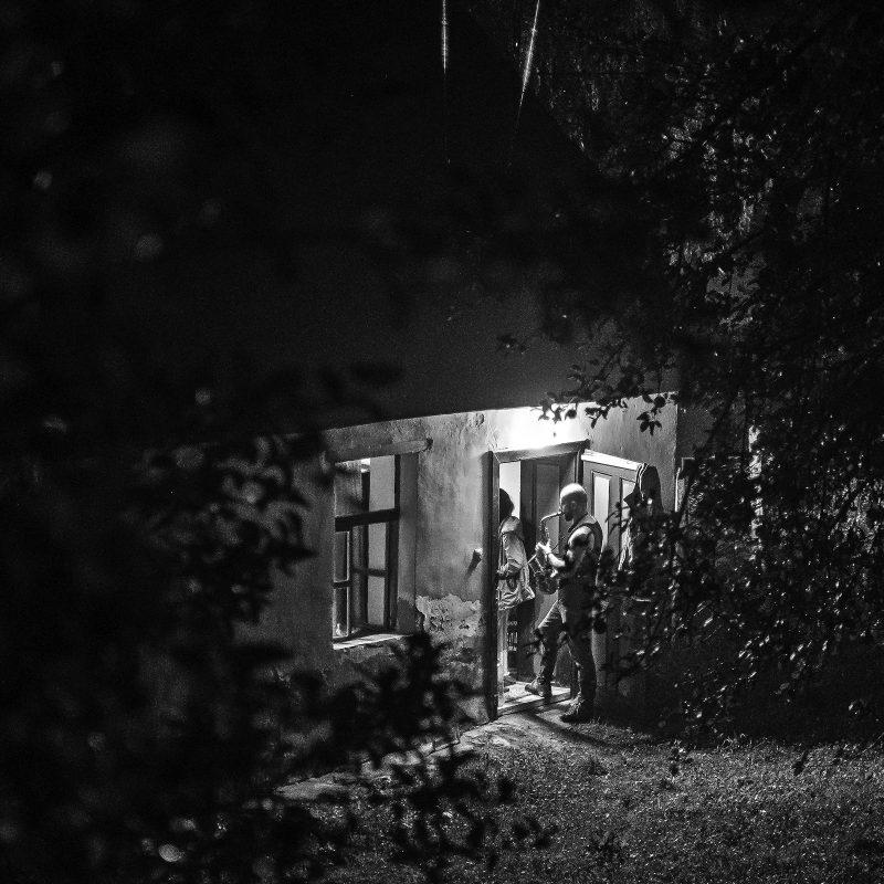 Wir hatten eine Weile abendliche Jazzmusik im Garten