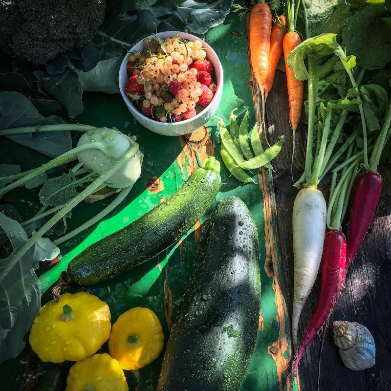 Angeben mit Gemüse