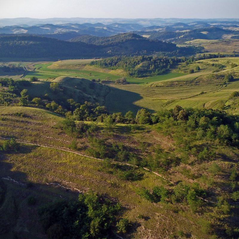 Hügel im Karpatenbogen