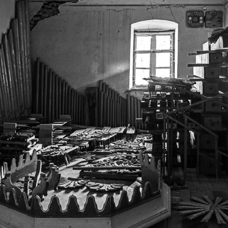 die Orgel von Großkopisch - in Teilen