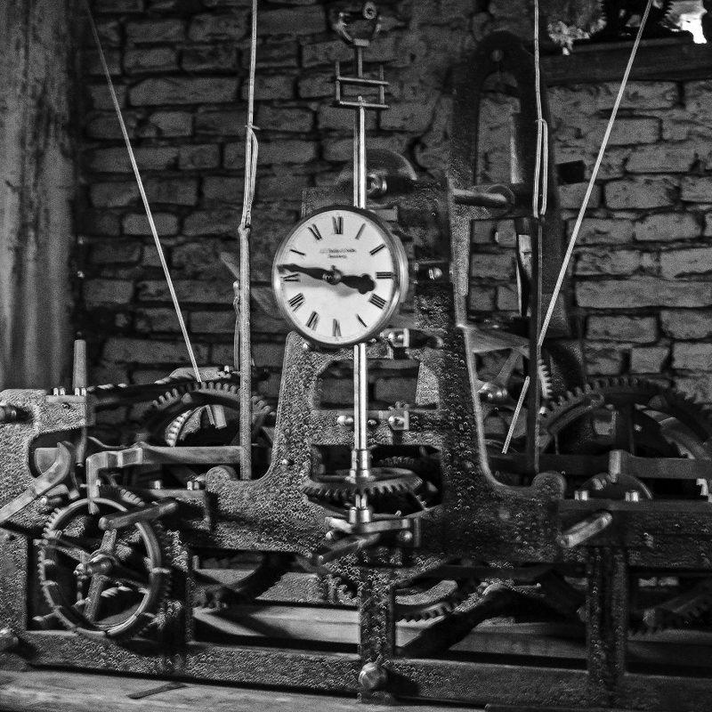 Uhrwerk in Großkopisch, frisch gewartet