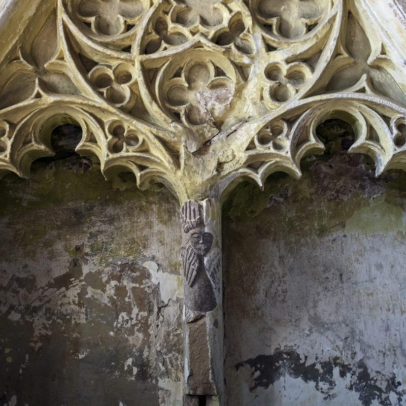 Innenraum der evangelischen Kirche